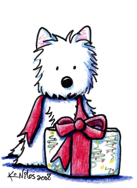 Google, Search and Gifts; Wes - Westie Clipart