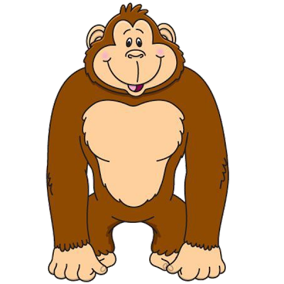 gorilla cartoon clip art .