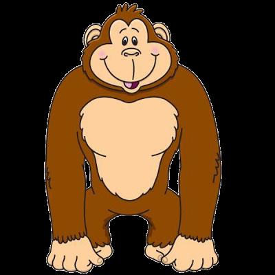 Gorilla Cartoon Clip Art .-gorilla cartoon clip art .-2