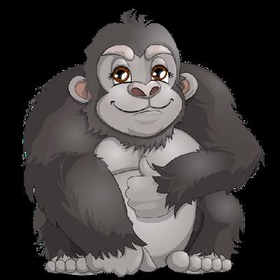 Gorilla Clip Art. Black Gorilla