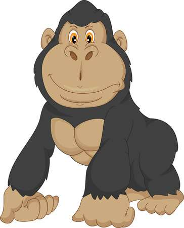 Baby Gorilla Cartoon-baby gorilla cartoon-2
