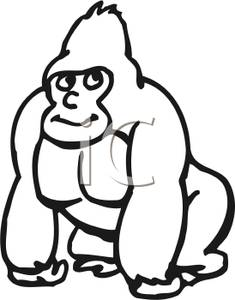 Gorilla Clipart Black And White Clipart -Gorilla Clipart Black And White Clipart Panda Free Clipart Images-12