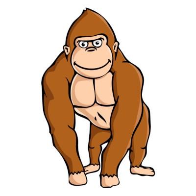Brown Gorilla Clipart #1-Brown Gorilla Clipart #1-4