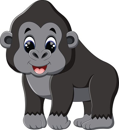 Cute Gorilla Clipart-Cute Gorilla Clipart-7