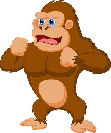 Gorilla Cartoon Illustration-Gorilla cartoon Illustration-10
