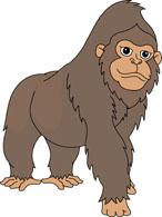 Large Gorilla Sitting Clipart. Size: 76 -large gorilla sitting clipart. Size: 76 Kb-17