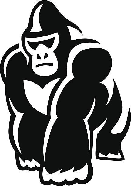 Walking Gorilla Vector Art Illustration-walking gorilla vector art illustration-21