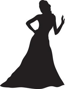 Gown Clipart Image Woman .-Gown Clipart Image Woman .-10