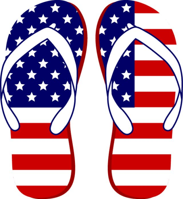 Grab This Free Clip Art And Celebrate Th-Grab This Free Clip Art and Celebrate This 4th of July: American Flag Flip Flops-11