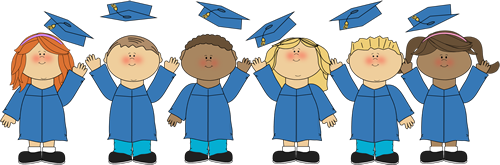 graduate clipart. Kids Tossing Graduation Caps