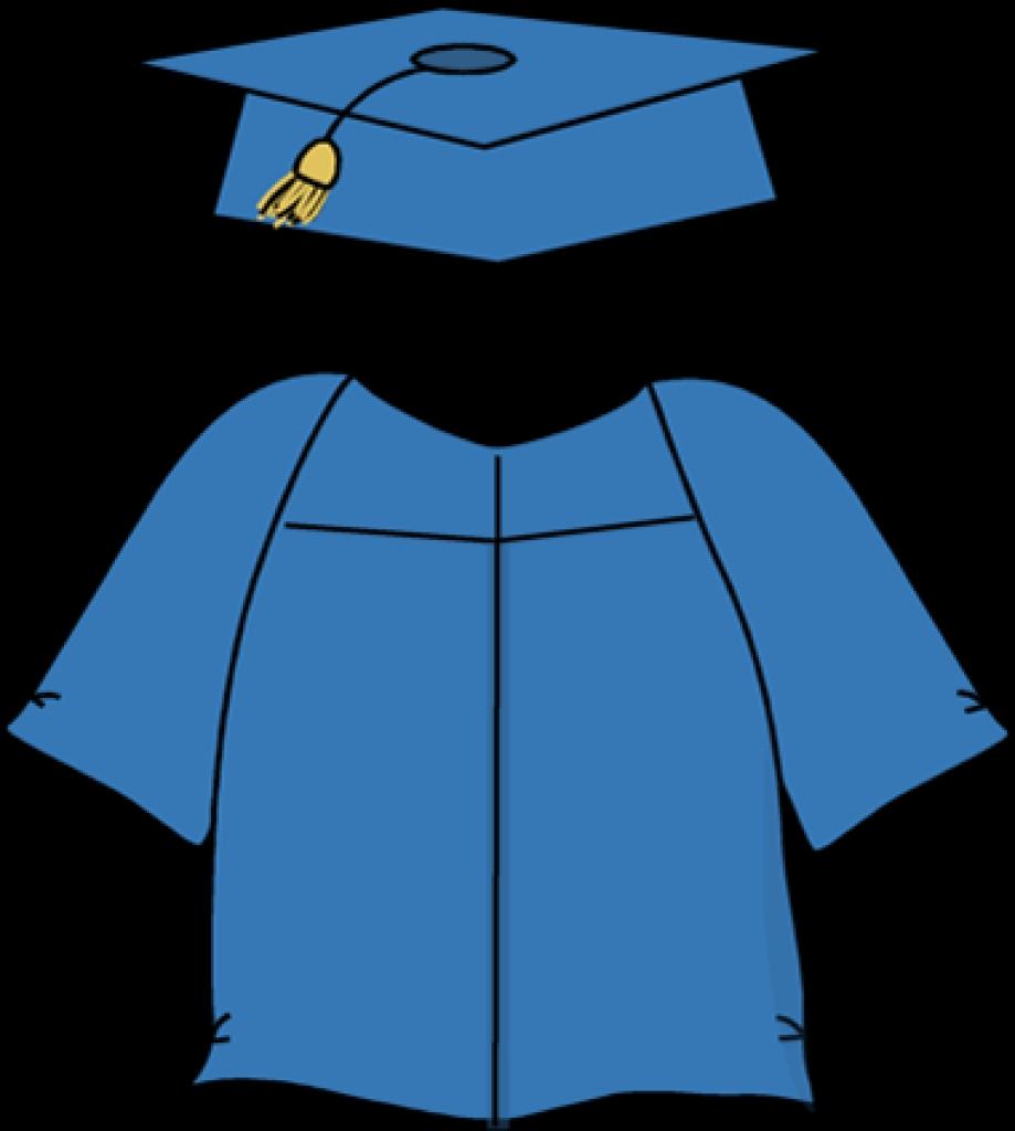Graduation Cap And Gown Clip .-graduation cap and gown clip .-9