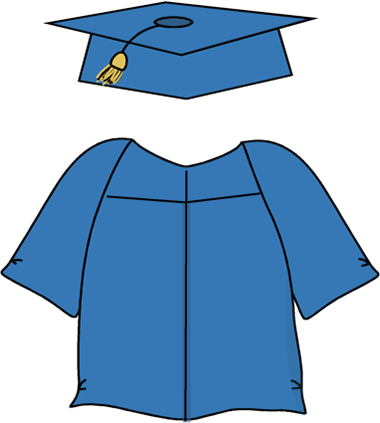 Graduation Cap and Gown. Graduation Cap and Gown Clip Art ...