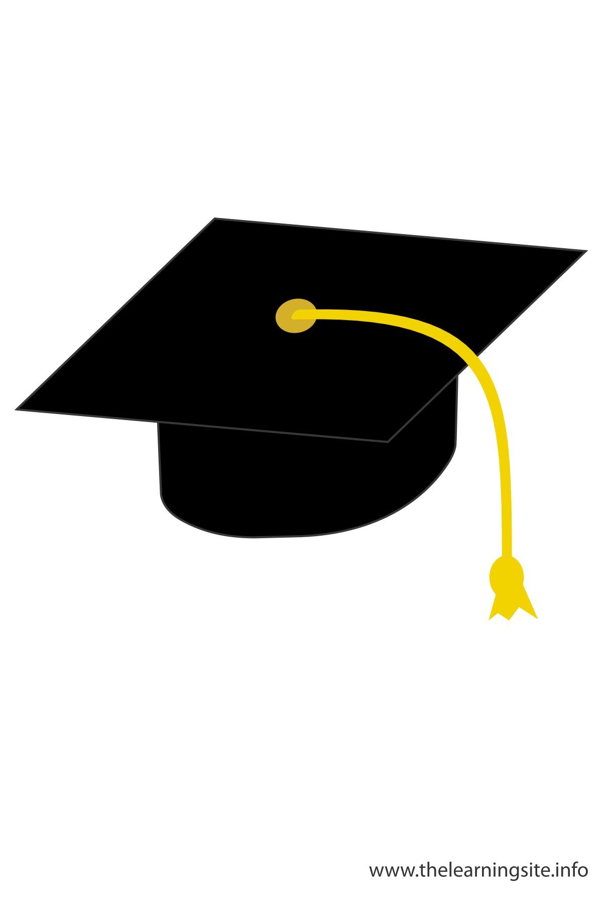 Graduation Cap Clipart Coloring Kids
