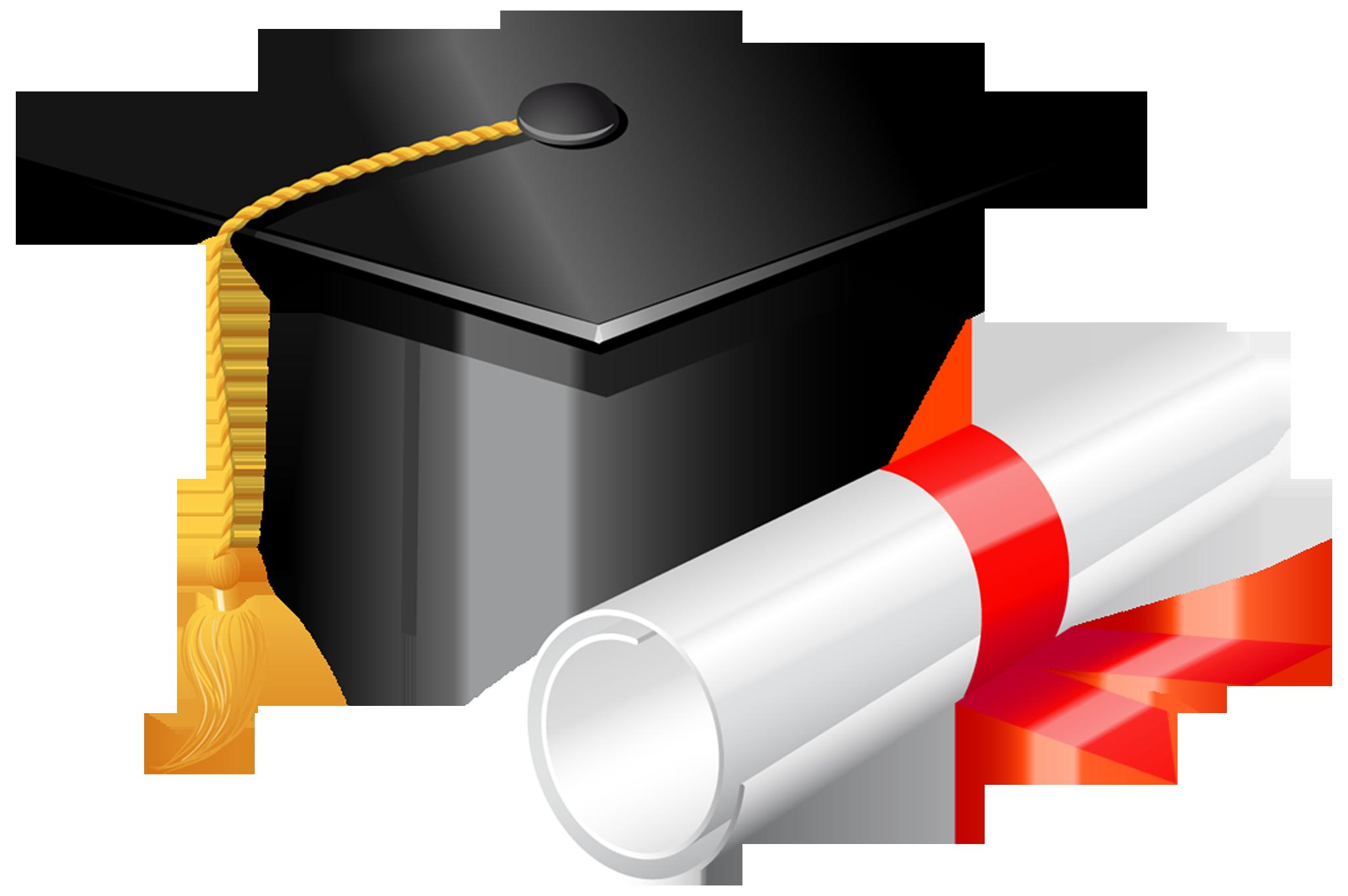 Graduation Cap With Diploma .-Graduation Cap with Diploma .-13