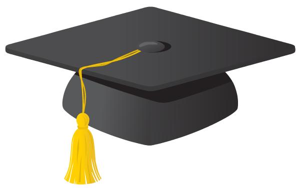 Graduation cap cartoon. Grad clip art
