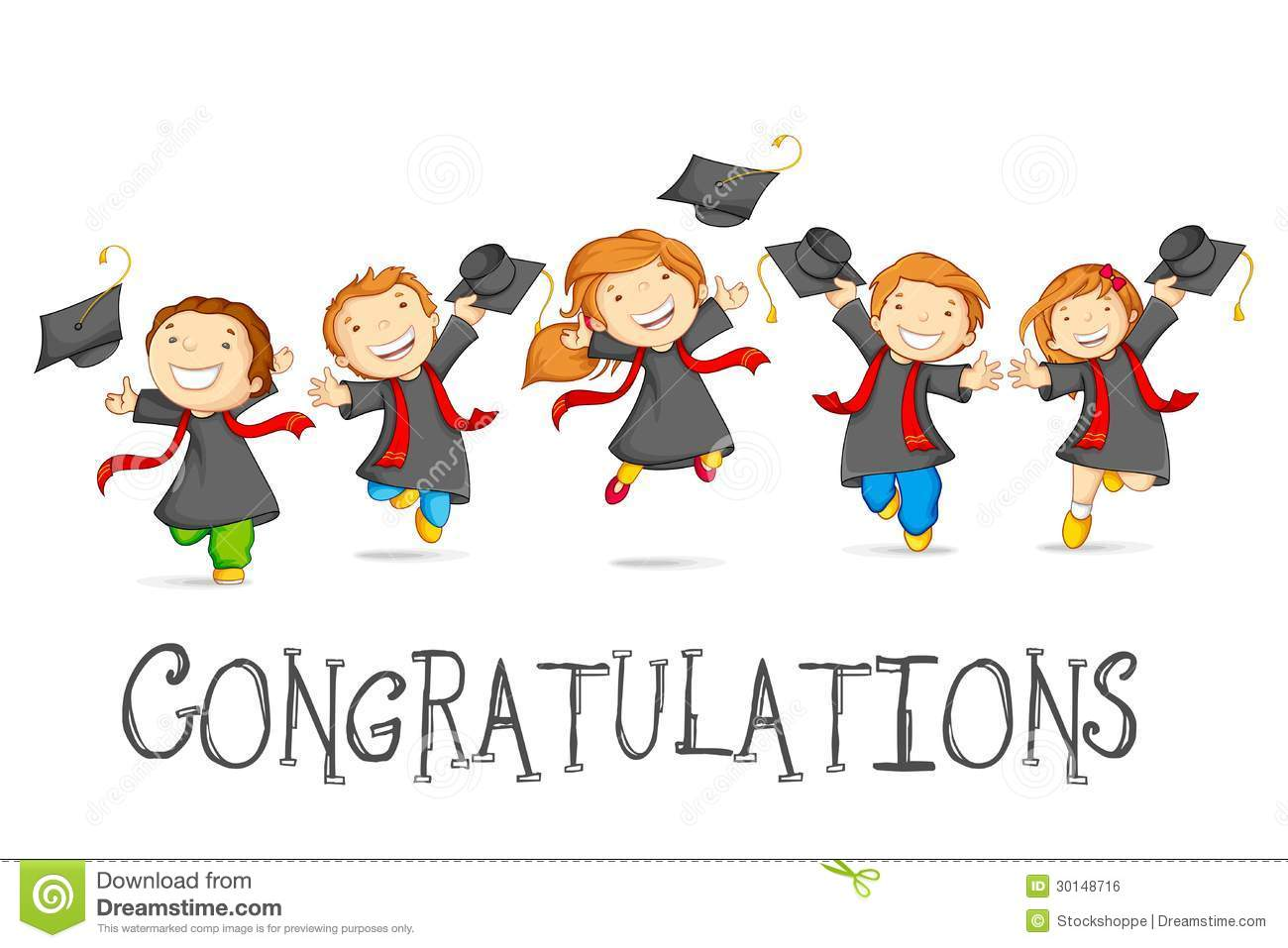 Graduation For Preschool Cliparts Happy Graduates Royalty Free Stock