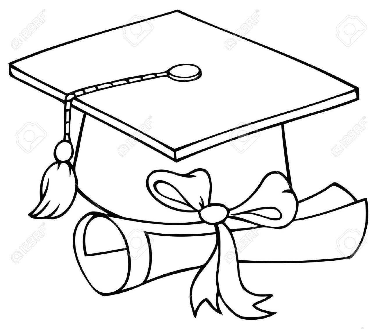 Graduation Cap, Black Clip Ar