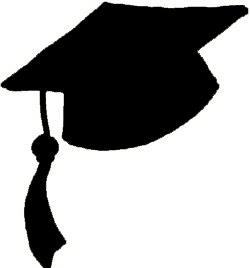 Graduation hat flying graduation caps clip art graduation cap line 2