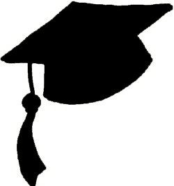 Graduation hat flying graduation caps clip art graduation cap line 2
