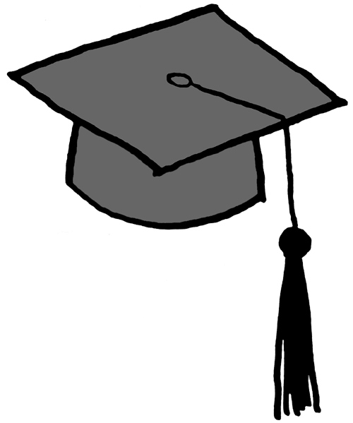Graduation hat flying graduation caps clip art graduation cap line 4