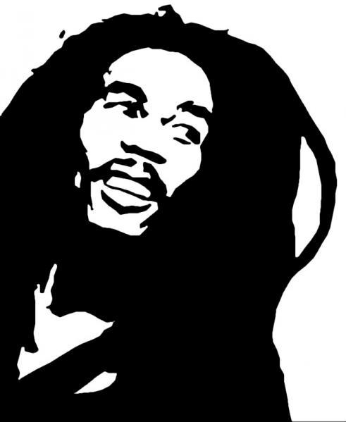 Graffiti Stencil Bob Marley - ClipArt Best