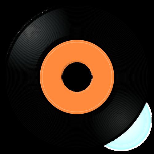 Gramophone Record Vector Image-Gramophone record vector image-2
