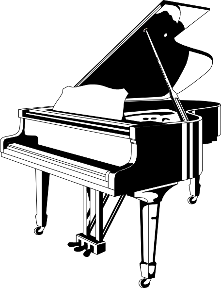 Grand Piano Clip Art At Clker Com Vector Clip Art Online Royalty