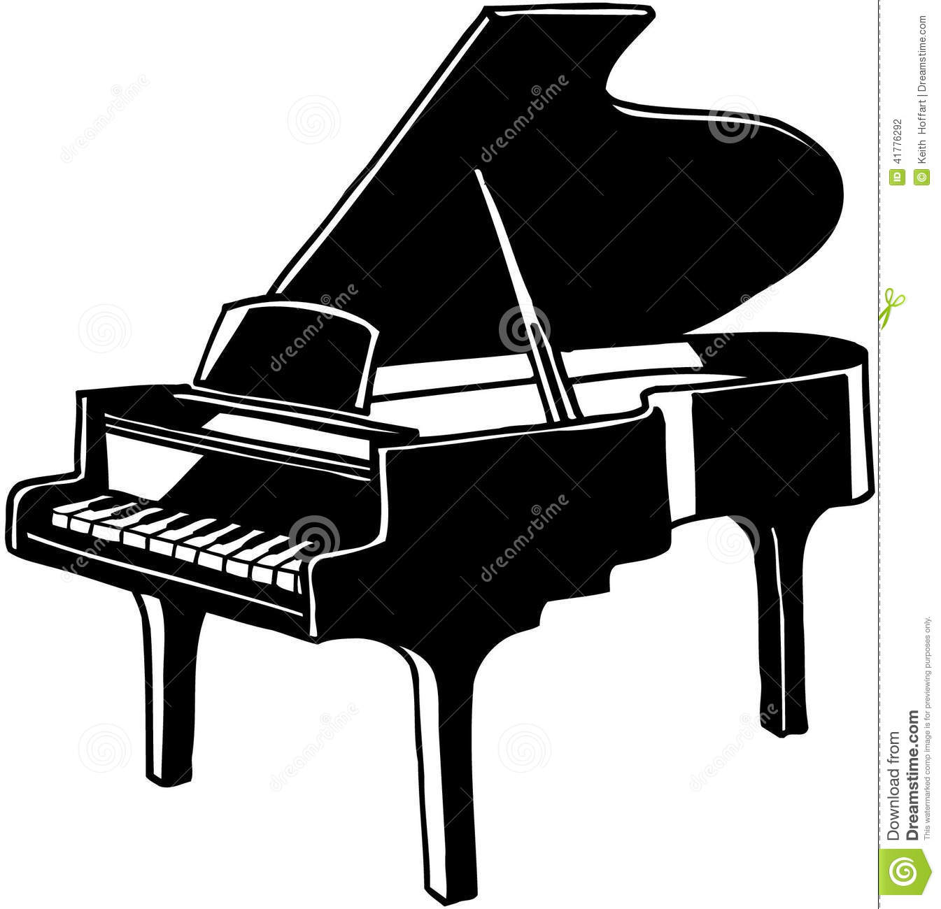 Grand Piano musical instrument Vector Cl-Grand Piano musical instrument Vector Clipart-17