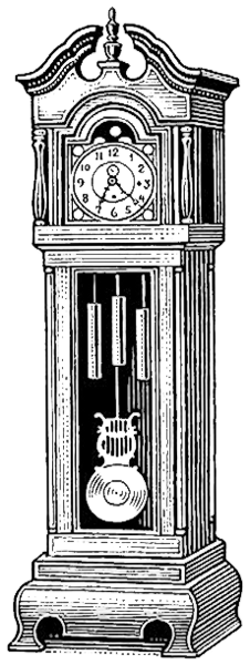 Grandfather Clock Bw Time .