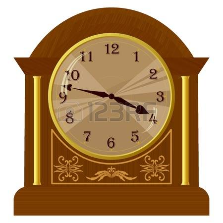 grandfather clock: Vector illustration of old floor clock