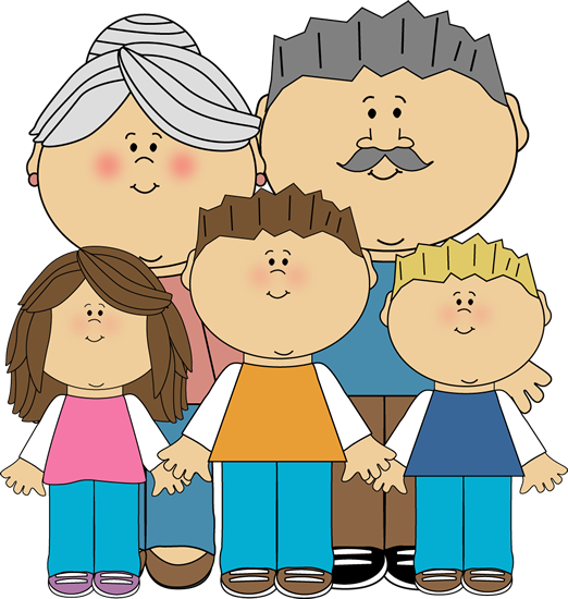 Grandparents And Grandchildren Clip Art Image