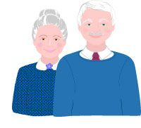Grandparents Clip Art, Grandfather and Grandmother Graphics