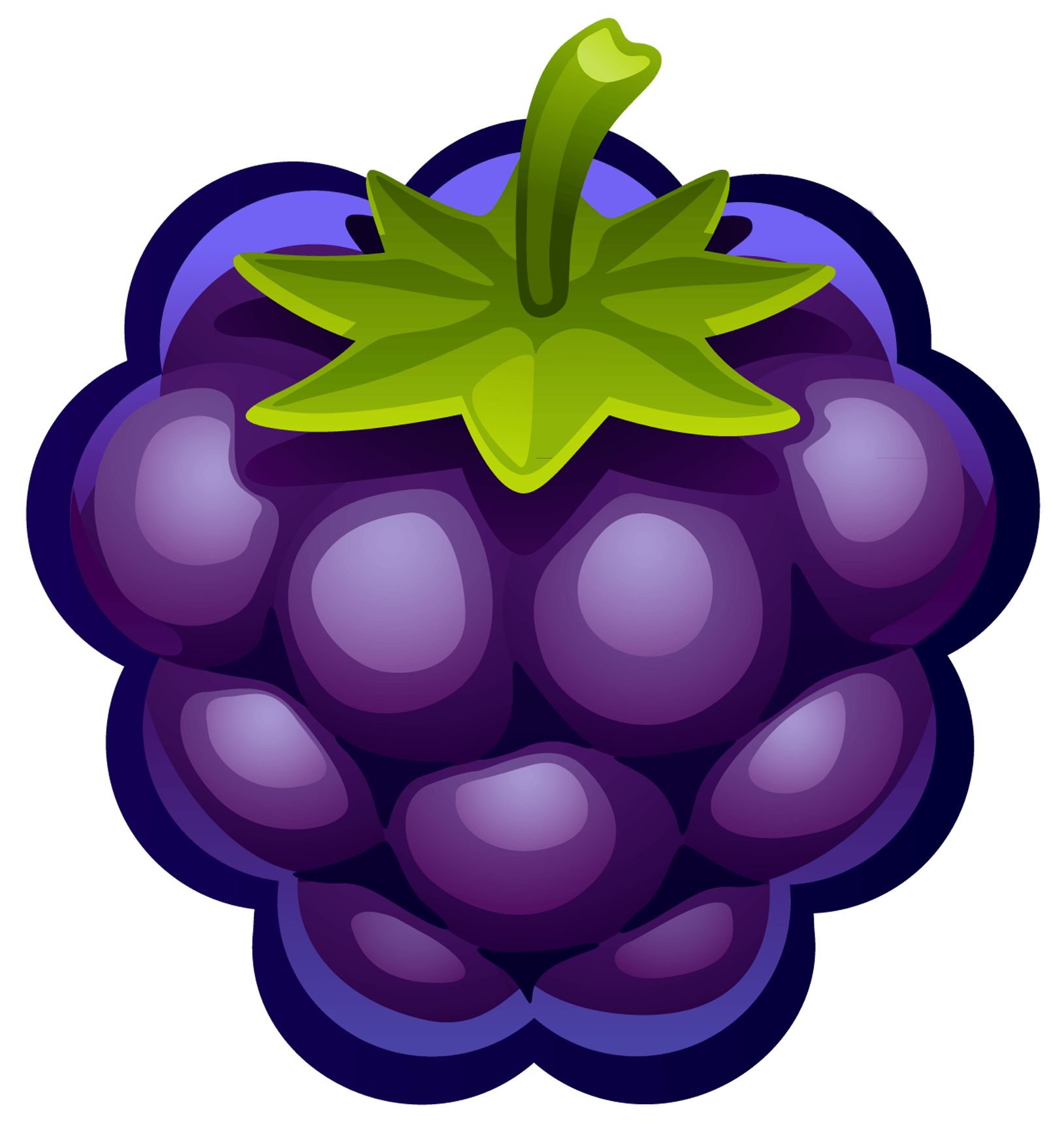 Grape Blueberry Clipart