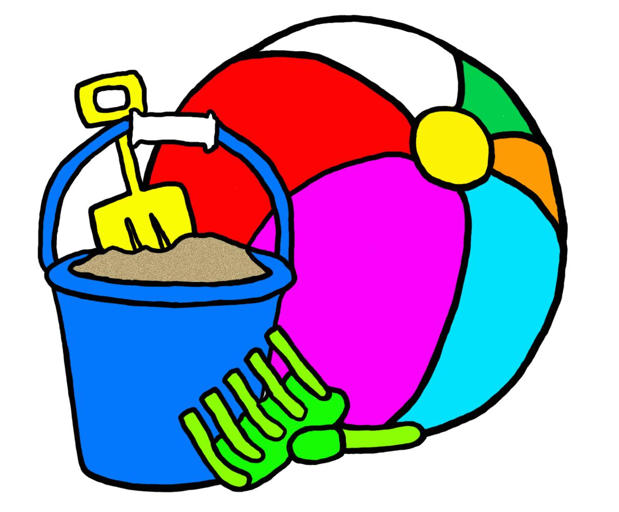 Graphic, Clip Art, Beach Toys, Summer, F-Graphic, clip art, beach toys, summer, fun, pail, bucket,-5