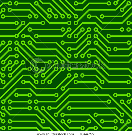 Graphic Depicting Printed Circuit Board Vector Clipart Illustration