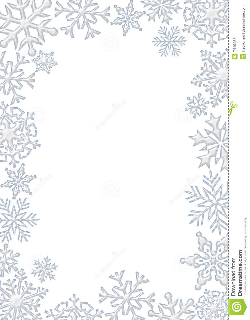 Graphic Illustration Of White Snowflake -Graphic Illustration Of White Snowflake Border-15