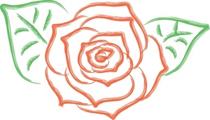 Graphic rose clipart