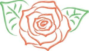 Graphic Rose Clipart-Graphic rose clipart-7