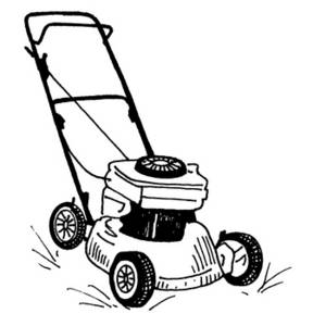 grass clipart black and white - Clipart Lawn Mower