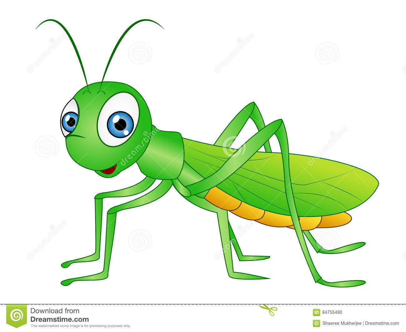 Cartoon Grasshopper Clip Art