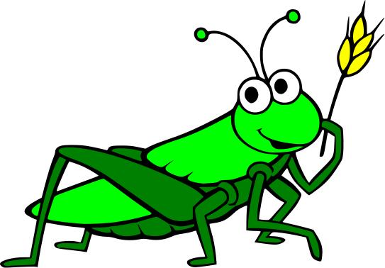 Cartoon Grasshopper Clipart #1