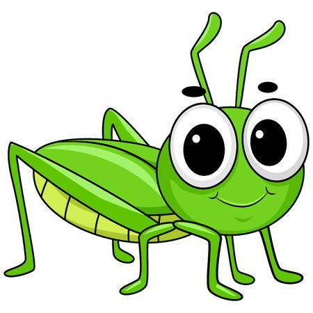 Vector Illustration Of Cute Little Grass-Vector Illustration of Cute Little Grasshopper-17