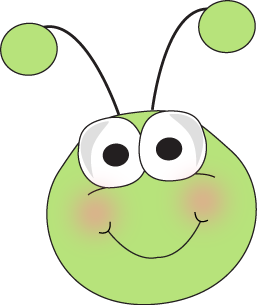 Grasshopper Face - Cute Bug Clipart