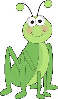 Grasshopper Sitting - Cute Bug Clipart