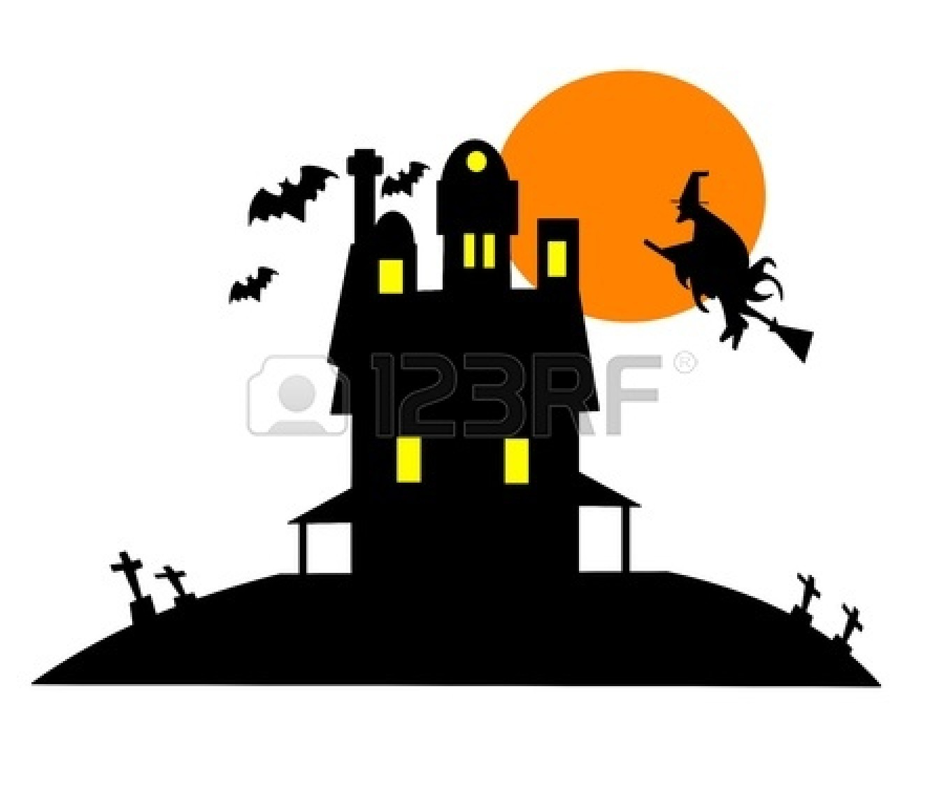 ... Graveyard Clipart 14801271 Haunted House Clip Art Over White Jpg Clipart ...