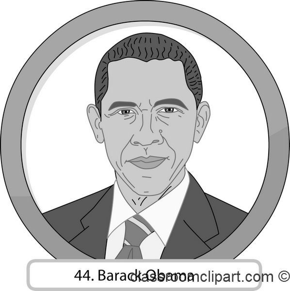 Gray And White Clipart 44 Barack Obama G-Gray And White Clipart 44 Barack Obama Gray Classroom Clipart-12