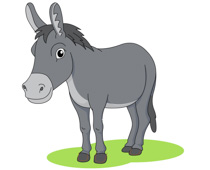gray donkey clipart. Size: 75 Kb