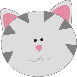 Gray Kitty Cat Face Face | Clipart | Clipart library