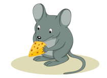 Gray mouse pink ears clipart. Size: 46 Kb