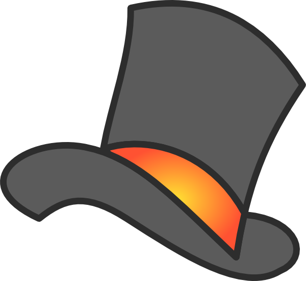 Gray Top Hat Clip Art At Clker Com Vector Clip Art Online Royalty